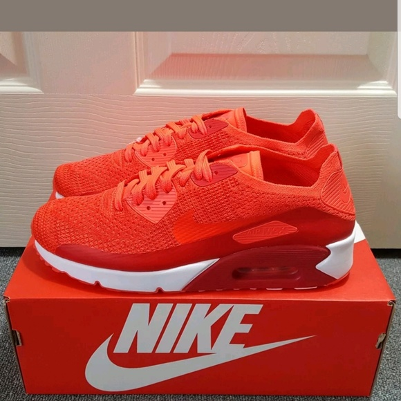 sale retailer cc9b5 c3bd4 Nike Air Max 90 Ultra 2.0 Flyknit Red Shoes NWT